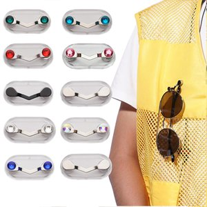 Stainless Steel Magnetic Eye Glass Holder Sunglasses Clip Hang Universal Magnet Hook Shirt Earphone Key Eyeglass Holder Pin