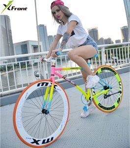 Wholesale New X front brand colorful carbon steel inch fixed gear rear pedal brake bicicleta student bike road bicycle