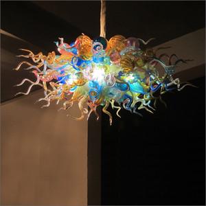 Beautiful Amber Glass Pendant Light Artistic Lighting Hand Blown Glass Modern LED Chandeliers Modern Kitchen Design