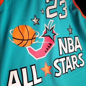 #23 Stitched Michael Mitchell Ness 1996 96 Jersey Mens Vest Size XS-6XL Stitched basketball Jerseys Ncaa