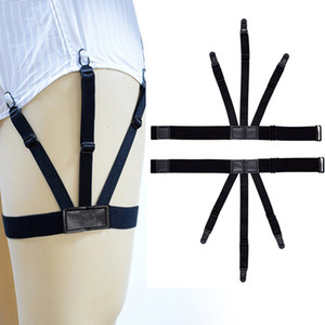 Men's Shirt Stay Suspenders Garter Women Men Leg Elastic Harness Braces For Business Shirts Adjustable Sock Garter Holder Belt