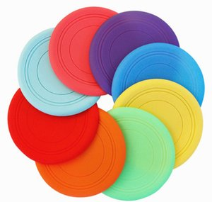Wholesale Dog Frisbee grazing silicone pet flying saucer training dog teeth toy bite resistant floating pet supplies children s toys