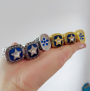 Wholesale DALLA S COWBOYS National CHAMPIONSHIP RING Set Sport Souvenir Men Fan Brithday Gift Drop Shipping
