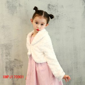 Wholesale 2019 new children s hair shawl female flower girl dress with jacket cloak costume shawl drop shipping