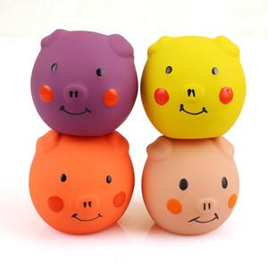 NoB-HoB 4PCS Squeak Latex Cat Toy Funny Animal Sets Pet Interactive Play for Cat Assorted Color