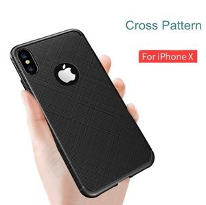 Wholesale Ultra Thin Cross Pattern Case Cover For New iPhone XR XS Max Soft TPU Case Cover For Note N10 Pro