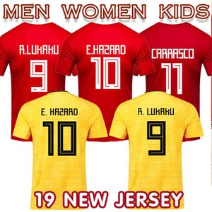 Wholesale 2019 Bellgium maillot football National Team soccer jersey Hazarder women men kids home Camiseta de futbol