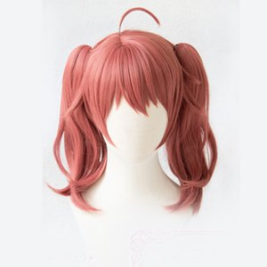 Dropshipping Anime DARLING in the FRANXX MIKU 390 Cosplay Pink Long Curly Girls Hair Male Anti-wrinkle Synthetic Wigs For Women