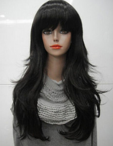 Wholesale WIG LL lt lt lt Black Long wavy Anti Alice Women Ladies Daily wig Hivision