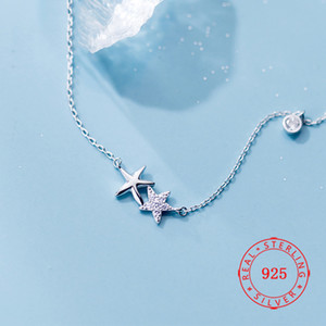 Wholesale star gold 925 for sale - Group buy New Fashion Sterling Silver Star Pendant Necklaces For Women White Zircon Charms Necklace Pendant rose gold fine jewelry necklace