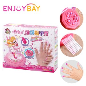 Wholesale Enjoybay Kids Pretend Play Makeup Toy Cartoon Princess Nail Sticker Toy Girls Nail Art Beauty Toy Funny Gifts for Children