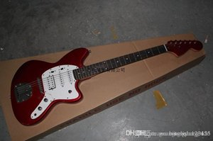 Wholesale Hot Sale High Quality F Custom Shop Red Jaguar Electric Guitar Rosewood Fingerboard In Stock
