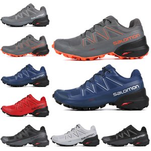 Wholesale Discount Salomon Speedcross CS Men Running Shoes Black White Grey Blue Red Mens Trainers Waterproof Athletic Sports Sneakers