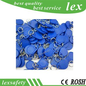 Wholesale 125khz rfid proximity id card resale online - 100pcs Khz TK4100 EM4100 RFID card tags Proximity ID Token Residential Access Control Tags Key Fob Access Control Blue