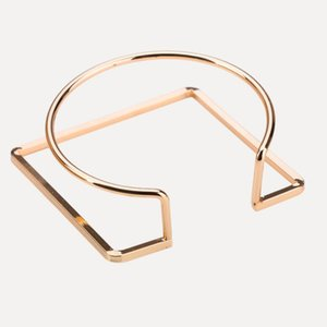 Wholesale designer jewlery U shape bracelets circle round square open cuff bracelets for women hot fashion