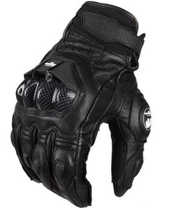 htmotostore Fashion Outdoor Sports Casual Men's Leather Gloves Motorcycle Protective Racing Cross Country full finger