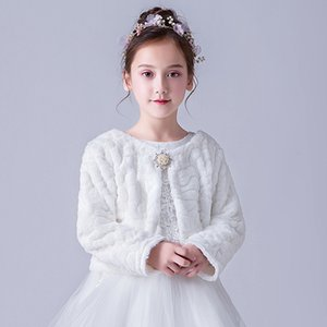 Winter Little Girls Jackets Faux Fur Fashion Baby Coat Kids Clothes Poncho Children Clothing Girl Outerwear Flower Girl Cape