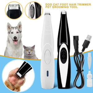 Wholesale pet dog nail trimmer clipper for sale - Group buy Pet Nail Hair Trimmer Grinder Cat Dog Grooming Tool Electrical Shearing Cutter Battery Dog Haircut Shaver Clipper