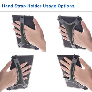 TFY Universal Tablet Hand Strap Holder Finger Grip with Soft PU for iPad mini   Galaxy Tab S 8.4 and 7 - 8 inch Tablet (Gray)