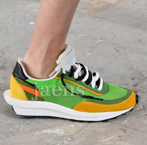 Discount SACAI LDV Waffle Black Green Blue Men Casual Shoes For New Women Designer Runner Fashion Bowling Shoes Eur36-45 on Sale