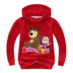 Wholesale 2019 Spring Autumn Masha and The Bear Baby Hoodie Boys Sweatshirt Toddler Girl Sweatshirt Christmas Costume Outfit Baby Clothes