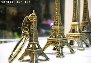 Wholesale 18K01 Annita design hand made unique designer key accessory jewelry pairs vintage Classic Eiffel Tower Simple Alloy Antique Bronze Keychain