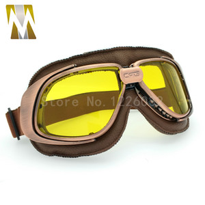 New Classic Bronze Vintage Harley Goggles Glasses For Open Face Helmet Retro Motorcycle Goggles Half Helmet Eyewear 5 color lens