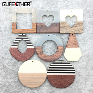 Wholesale GUFEATHER M188 jewelry making wood acrylic earrings jewelry findings charms diy pendant jewelry hand made earrings accessories