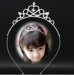 Wholesale Beautiful Shiny Crystal Bridal Tiara Party Pageant Silver Plated Crown Hairband Cheap Wedding Accessories girls Hairpin Princess Crown