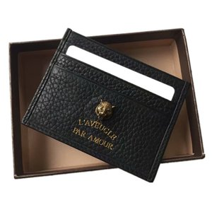 Wholesale Tigger designs Card Holder Men Women top Genuine Leather Leather Credit Card Case ID Card Holder Wallet Purse Pouch