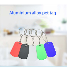 Puppy Mental Tag Pet dog Metal Blank Military Pet Dog ID Card Tags Aluminum Alloy Army Dog Tags with ring Free Shipping