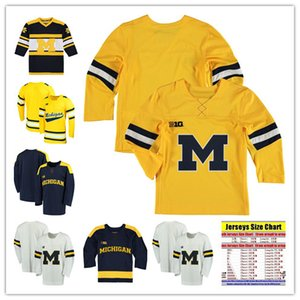Custom NCAA Colleage Hockey Jerseys Michigan Wolverines #19 LARKIN #13 Zach Werenski Michigan Wolverines Jersey Personal Stitched XXS-6XL on Sale