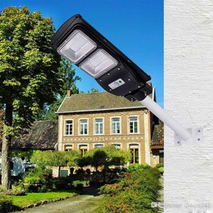 Wholesale New Solar Street Light W W W IP65 Integrated PIR Motion Sensor All In One Solar Street Light with Pole Remote Control