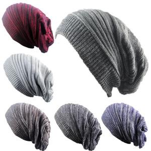Winter Trendy Warm Hat Scarf Slouchy Beanie Scarf Fleece Head Wraps Baggy Warm Crochet Winter Wool Knit Ski Outside Men Women