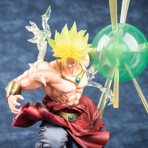 2019 new Super Saiyan Green Anime Dragon Ball Z Broly Figure The Burnning Battles Pvc Action Figure Collection Model Toys 32cm