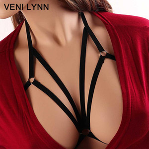 Wholesale VENI LYNN Exotic Rope Spaghetti Straps Women Tops Halter Lingerie Sexy Hot Hollow Out Adjustable Underwear Harness bra