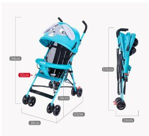 Wholesale Strollers Summer baby carriage super light cartoon baby carriage can take umbrella car simple child trolley