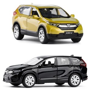 High simulation 1:32 scale pull back Honda CRV alloy car,6 open door music flash car model toys,metal diecast, free shipping SH190910