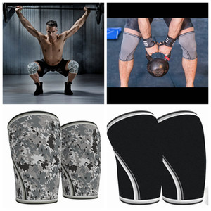 Wholesale Weightlifting squat mm knee pads outdoor climbing shatter resistant protective gear rubber sports cycling knee support ZZA965