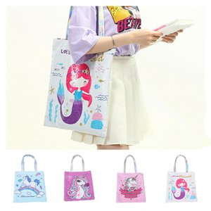 Wholesale NEW Unicorn Cartoon Sequin Shoulder Bag Tote Large Capacity Handbag Women Reversible Glitter Mermaid Sequins School Bag