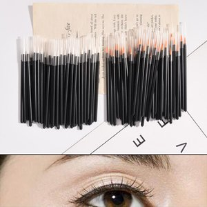 Wholesale disposable makeup applicators resale online - 50PCS Disposable Single Eyeliner Brush Eye Lip Makeup Micro One Off Eye Liner Liquid Wand Applicator Cosmetic Brushes Tool