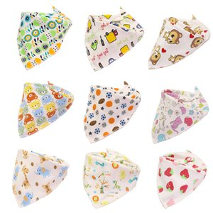 Baby Print Saliva Towel Baby Infant Boy Girl Designer Clothes Cotton Triangle Newborn Turban Bib Scarf Double Snap