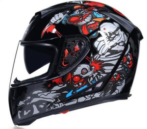 Wholesale Full Face Motorcycle Helmet Washable Lining with Dual Lens Stylish Fast Release Racing Helmet Casco Casque Moto DOT Approved