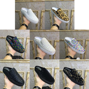 robe diamant chaussure achat en gros de-news_sitemap_homeDesigner Red Bottom Mocassins Party Luxe Chaussures de mariage Femmes Hommes SUEDE Rivet Flats Diamonds Spikes appartements cloutés Robe Casual Chaussure