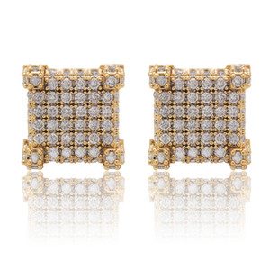 Wholesale hip pop jewelry for sale - Group buy Pop Hip hop Zircon Studs Lady s studs hiphop jewelry inlaid with drill studs plated Jewelry for Women Earrings Bling Bling