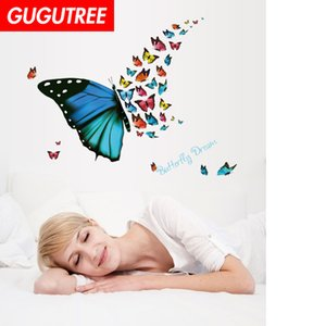Wholesale Decorate Home buttlefly cartoon art wall sticker decoration Decals mural painting Removable Decor Wallpaper G-1871
