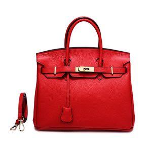 Classic Brand designer handbags HERM luxury purse handbag genuine leather litchi pattern 30cm designer bags real leather handbag