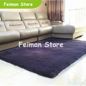 Wholesale Plush Fabric Anti slip Mat Thick Floor Carpets for Living Room Plain Color Bathroom Water Absorption Floor Rug Mat Size