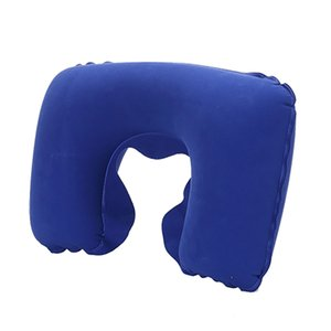 Wholesale Inflatable Neck Pillow Universal Soft Pillow Portable U shaped Head Rest Cushion for Car Airplane Travel Office