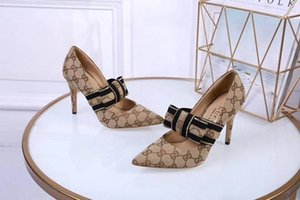 Wholesale 2019 Spring Summer Autumn New Fashion Dress Shoes Genuine Leather High Heels Single Shoes